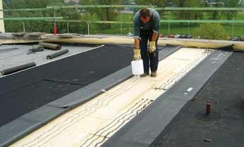EPDM-gekleefd-rubber-voor-plat-dak