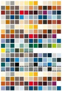 trespa kleurkaart