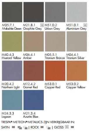 trespa metallics kleuren